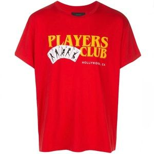 Amiri Players Club Hollywood Tee Red Men's Large